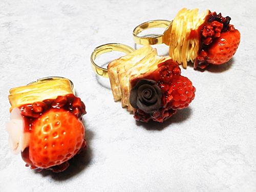 フェイクスイーツのミニケーキリング(指輪)