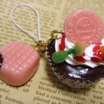 チョコストロベリーカップケーキ