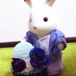 ブルーブルーケーキとショコラウサギ