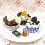福袋その2 スイーツデコ☆福袋☆カップケーキさ3点セット♪冬空シック