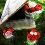 「グリーングラスと本型のおしゃれケース」